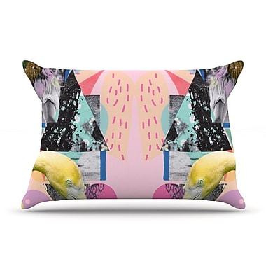 KESS InHouse Flamingo Tropical Pillow Case; Standard