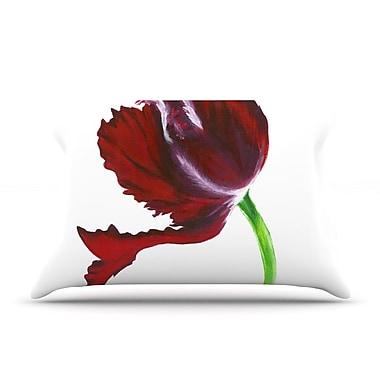 KESS InHouse Dark Purple Tulip Pillow Case; Standard