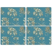 Pimpernel Sanderson Etchings and Roses Placement (Set of 4); Blue
