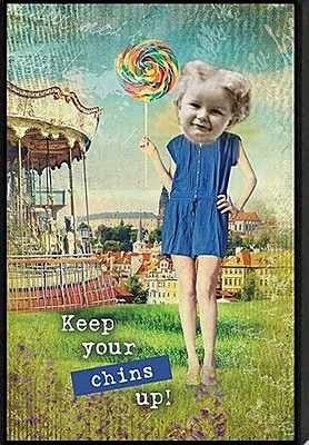 Artistic Reflections Just Sayin' 'Keep Your Chins Up!' by Tonya Framed Graphic Art
