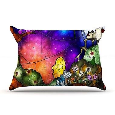 KESS InHouse Fairy Tale Alice In Wonderland Pillow Case; Standard