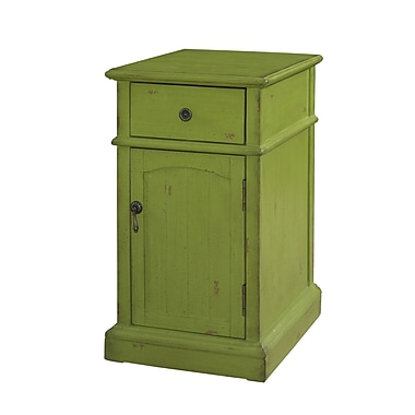Powell Green Chairside 1 Drawer Cabinet