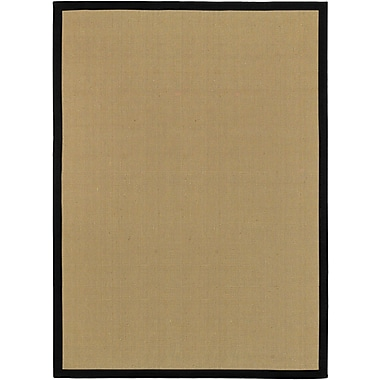 Surya Soho Black Hand Woven Rug, 8' x 10' Rectangle