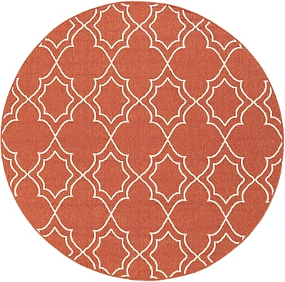 Surya Alfresco ALF9591-73RD Machine Made Rug, 7'3