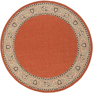 Surya Alfresco ALF9598-53RD Machine Made Rug, 5'3