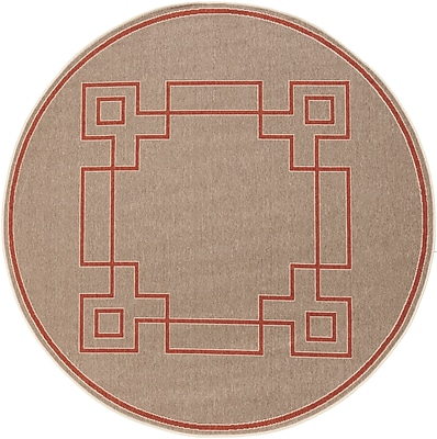 Surya Alfresco ALF9633-53RD Machine Made Rug, 5'3