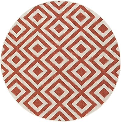 Surya Alfresco ALF9642-73RD Machine Made Rug, 7'3