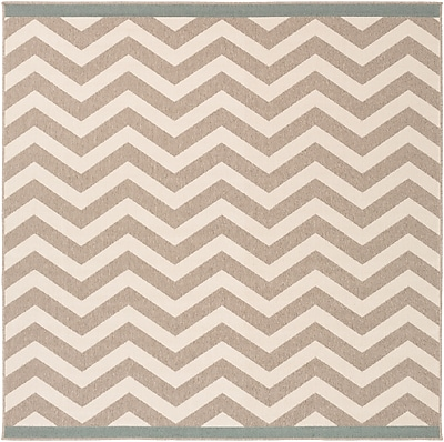 Surya Alfresco ALF9645-73SQ Machine Made Rug, 7'3