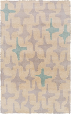 Surya Lotta Jansdotter Decorativa DCR4019-58 Hand Tufted Rug, 5' x 8' Rectangle