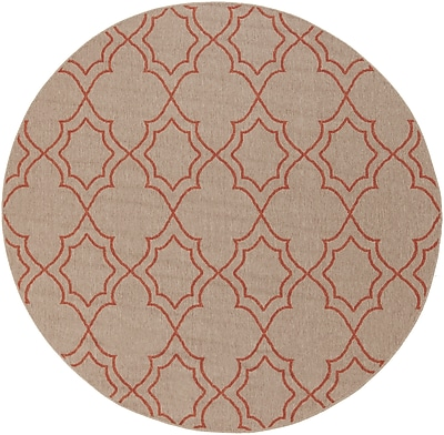 "Surya Alfresco ALF9588-89RD Machine Made Rug, 8'9"" Round"