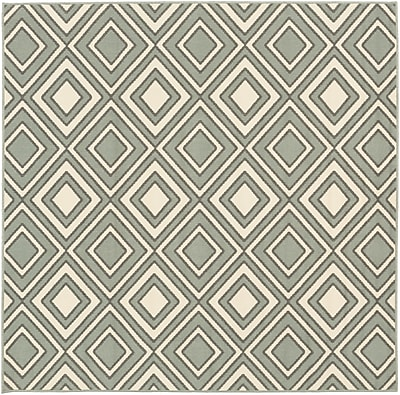 Surya Alfresco ALF9595-73SQ Machine Made Rug, 7'3