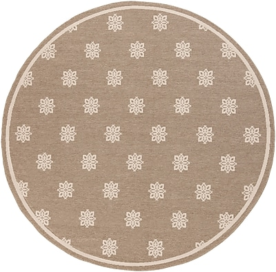 "Surya Alfresco ALF9607-89RD Machine Made Rug, 8'9"" Round"