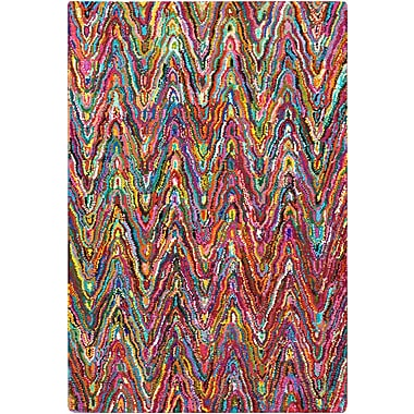 Surya Boho BOH2001-913 Hand Hooked Rug, 9' x 13' Rectangle