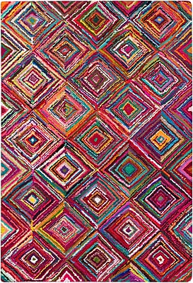 Surya Boho BOH2002-811 Hand Hooked Rug, 8' x 11' Rectangle