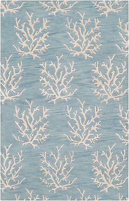 Surya Somerset Bay Escape ESP3013-58 Hand Tufted Rug, 5' x 8' Rectangle