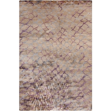 Surya Platinum PLAT9020-58 Hand Knotted Rug, 5' x 8' Rectangle