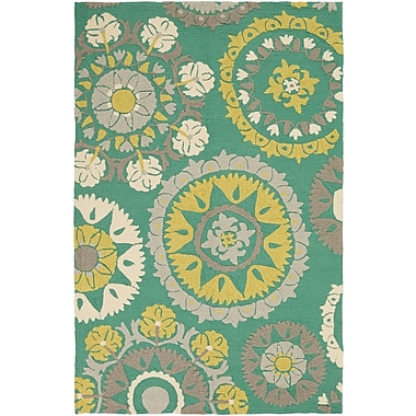 Surya Storm SOM7759-23 Hand Hooked Rug, 2' x 3' Rectangle
