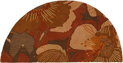 Surya Athena ATH5102-24HM Hand Tufted Rug, 2' x 4' Semi-Circle