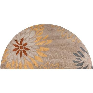 Surya Athena ATH5106-24HM Hand Tufted Rug, 2' x 4' Semi-Circle