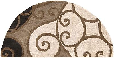 Surya Athena ATH5111-24HM Hand Tufted Rug, 2' x 4' Semi-Circle