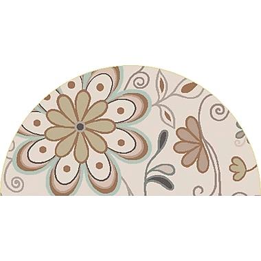 Surya Athena ATH5123-24HM Hand Tufted Rug, 2' x 4' Semi-Circle