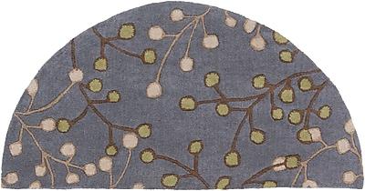 Surya Athena ATH5125-24HM Hand Tufted Rug, 2' x 4' Semi-Circle