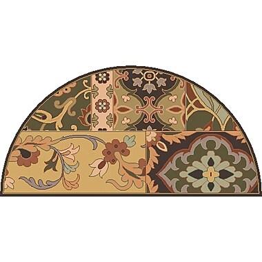 Surya Caesar CAE1139-24HM Hand Tufted Rug, 2' x 4' Semi-Circle
