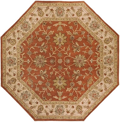 Surya Crowne CRN6002-8OCT Hand Tufted Rug, 8' Octagon