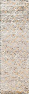 "Surya Platinum PLAT9018-268 Hand Knotted Rug, 2'6"" x 8' Rectangle"
