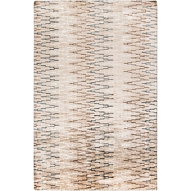 Surya Platinum PLAT9026-58 Hand Knotted Rug, 5' x 8' Rectangle