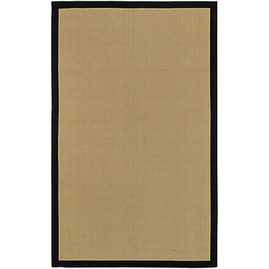 Surya Soho Black Hand Woven Rug, 5' x 8' Rectangle