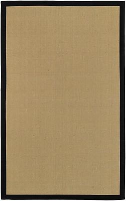 Surya Soho Black Hand Woven Rug, 5' x 8' Rectangle