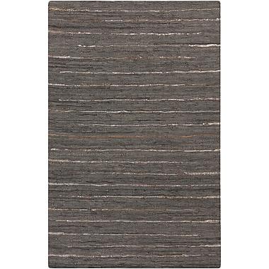 Surya Anthracite ATE8001-23 Hand Woven Rug, 2' x 3' Rectangle