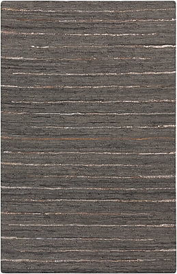 Surya Anthracite ATE8001-23 Hand Woven Rug, 2' x 3' Rectangle