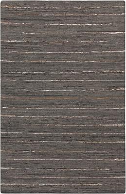 Surya Anthracite ATE8001-576 Hand Woven Rug, 5' x 7'6