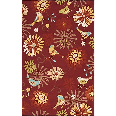 Surya Rain RAI1106-58 Hand Hooked Rug, 5' x 8' Rectangle