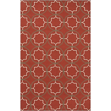 Surya Rain RAI1146-58 Hand Hooked Rug, 5' x 8' Rectangle