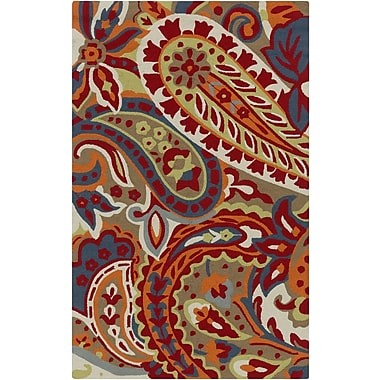 Surya Rain RAI1160-912 Hand Hooked Rug, 9' x 12' Rectangle