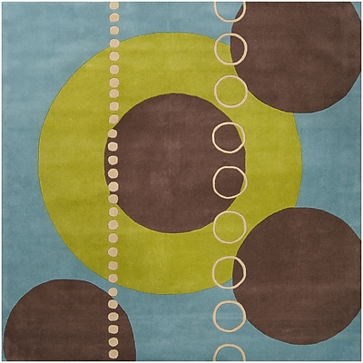 Surya Forum FM7013-4SQ Hand Tufted Rug, 4' Square