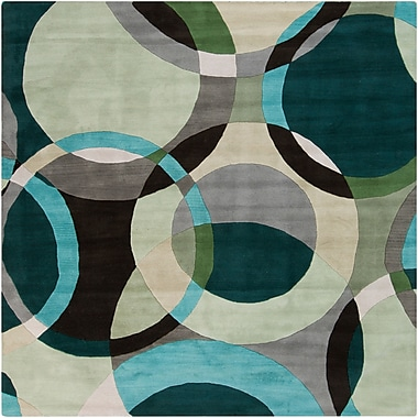 Surya Forum FM7157-4SQ Hand Tufted Rug, 4' Square