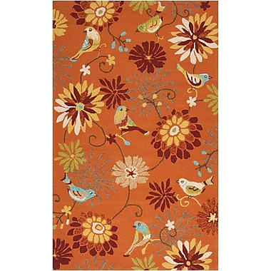 Surya Rain RAI1104-35 Hand Hooked Rug, 3' x 5' Rectangle
