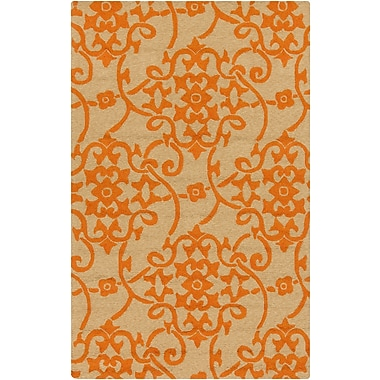 Surya Rain RAI1195-58 Hand Hooked Rug, 5' x 8' Rectangle