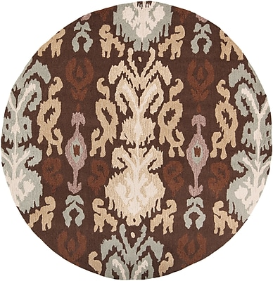 Surya Brentwood BNT7673-3RD Hand Hooked Rug, 3' Round