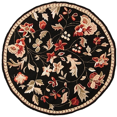 Surya Flor FLO8907-3RD Hand Hooked Rug, 3' Round