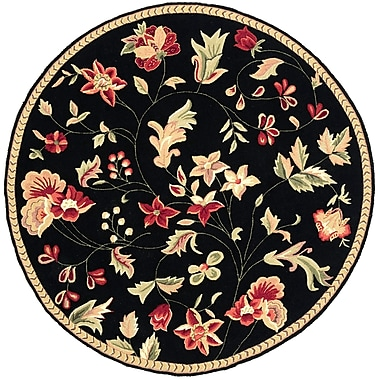 Surya Flor FLO8907-6RD Hand Hooked Rug, 6' Round