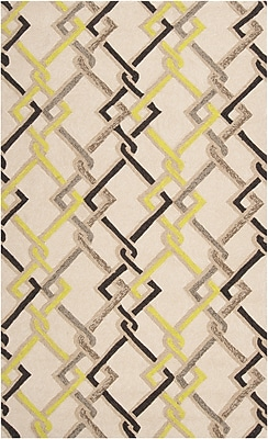 Surya Rain RAI1122-58 Hand Hooked Rug, 5' x 8' Rectangle