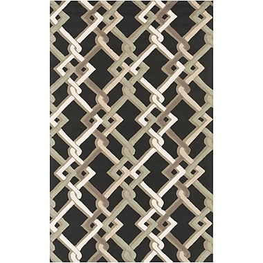 Surya Rain RAI1214-912 Hand Hooked Rug, 9' x 12' Rectangle