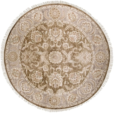 Surya Timeless TIM7907-8RD Hand Knotted Rug, 8' Round