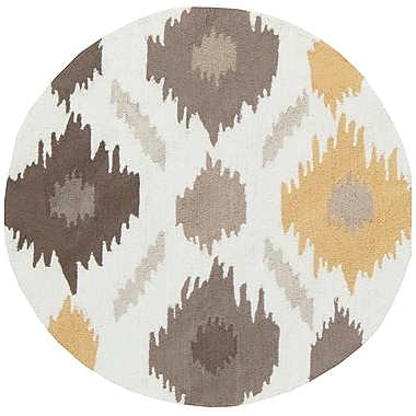 Surya Brentwood BNT7676-4RD Hand Hooked Rug, 4' Round