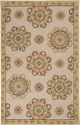 Surya Rain RAI1072-58 Hand Hooked Rug, 5' x 8' Rectangle